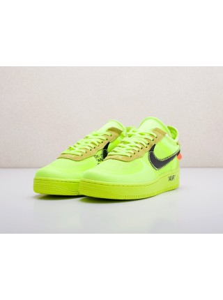Кроссовки Nike x OFF-White Air Force 1 Low 'Volt'