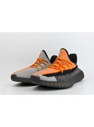 Кроссовки Adidas Yeezy 350 boost Black / Orange
