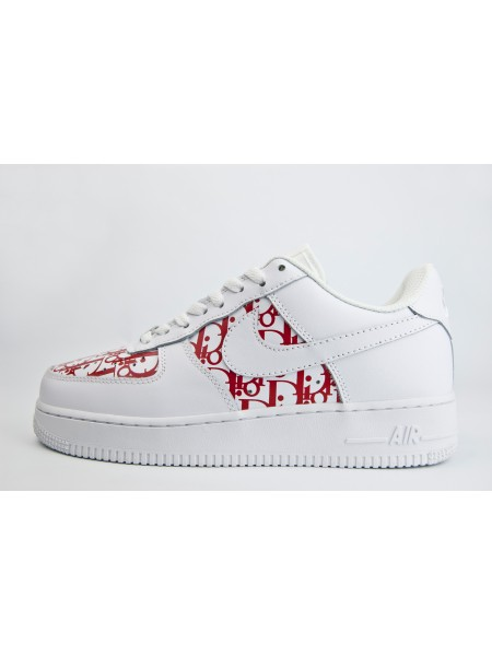 Кроссовки Nike Air Force 1 x Dior Low Wmns White / Red