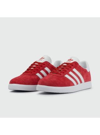 Кроссовки Adidas Gazelle Wmns Suede Red / White