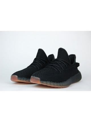 Кроссовки Adidas Yeezy 350 boost v2 Black / Ftwr Brown
